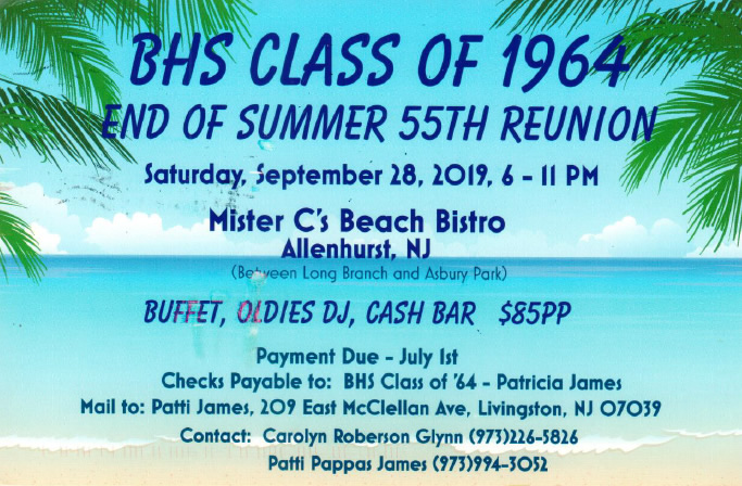 BHS Class of 64 Reunion